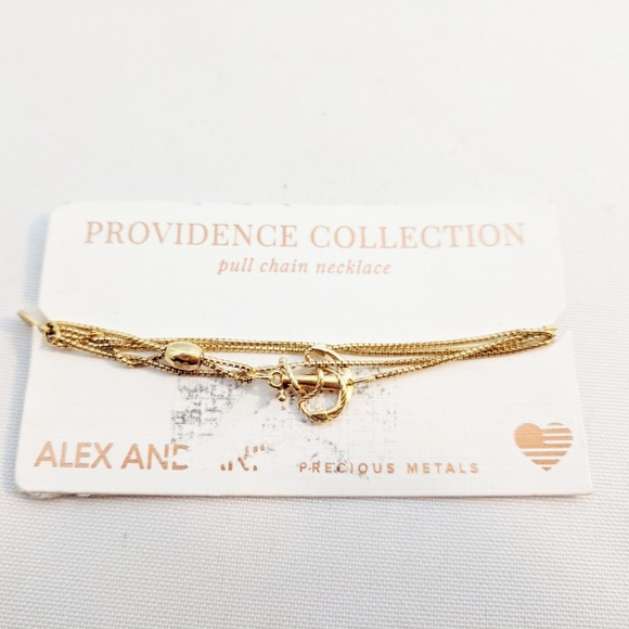 Alex and Ani Jewelry - Alex and Ani Gold Pull Chain Anchor Necklace 925